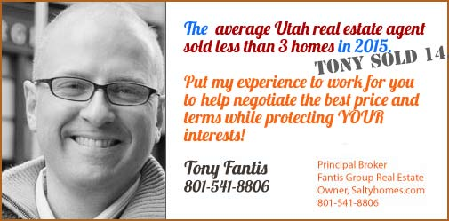 Tony Fantis, Realtor selling homes in Salt                         Lake City, Utah since 1999.